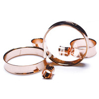 Rose Gold Steel Tunnels Plugs (3mm-45mm)