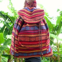 Details about Karen Hill Tribe Festival Back Pack Ruck Sack Day Bag Boho Hippie Aztec Travel
