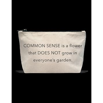Pouch- Common Sense Flower