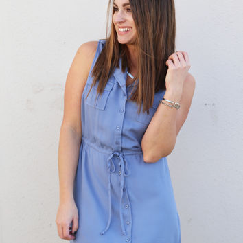 News To Me Dress By BB Dakota {Stonewash}