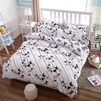 Comforter sets Butterfly pattern of king queen kids size 4pc cotton bedding set bedclothes quilt cover bed sheet pillow cases
