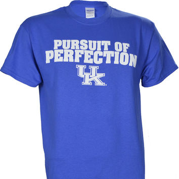 University of Kentucky UK Pursuit of Perfection on a Blue Short Sleeve T Shirt