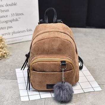 Student Backpack Children 2018 Autumn Fashion Backpack Women Mini Backpacks For Teenage Girls Winter Solid Color School Bags Student Small Backpack Female AT_49_3