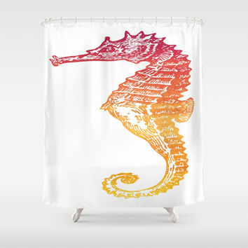 Seahorse Shower Curtain by Aloke Design
