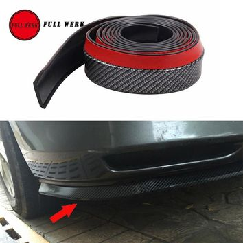Car Styling Carbon Fiber Scuff Protector Anti Scratch Bumper Protective Guard Strip Sticker Wrap Auto Body Decorative Trim