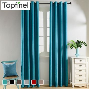 Top Finel Solid Blackout Curtains for Living Room