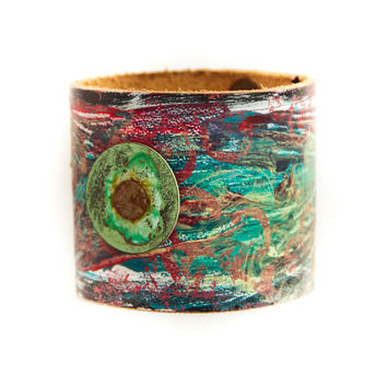One of a kind Turquoise Cuff Bohemian Jewelry Bracelet Handmade Gift Guide OOAK