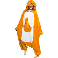 Kangaroo Orange Adult Plush Funny Animal Suit Kigurumi Pajama Costume Fancy Dress - $46.99