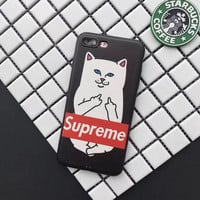 Supreme Cat FREESHIP Phone Case For all iPhone Models