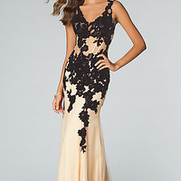 Sleeveless Lace Embellished JVN by Jovani Prom Dress