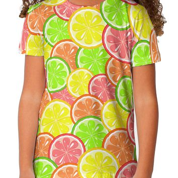 Colorful Citrus Fruits Toddler T-Shirt Dual Sided All Over Print