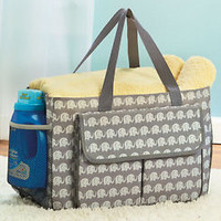 Elephant Oversized Utility Tote Bag Multi-Pocket Crafts Beach Diaper Bag Picnic