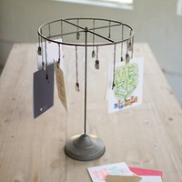 Table-top Hanging Card Holder With Clips
