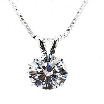 2 Carat Pendant Necklace For Women