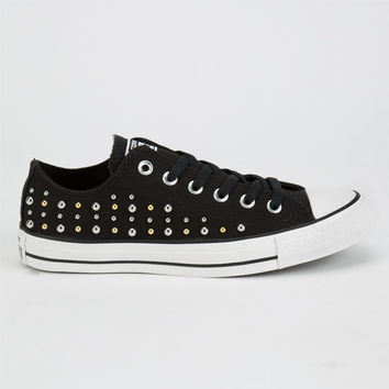 Converse Chuck Taylor All Star Low Womens Shoes Black  In Sizes