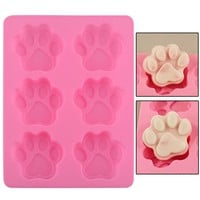 Dog Paw Silicone Mold - Baking/Ice Cube/Soap
