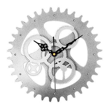Old Gear European Vintage Antique Wall Clock