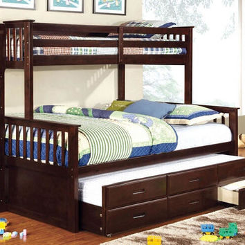 Shelton Extra Long Twin over Queen Combo Bunk Bed