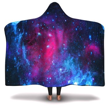 Hooded Blanket All-Over 3rd  Design Galaxy