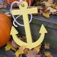 OOAK Reclaimed Wooden Anchor. Wood Anchor. Home Decor. Nautical Decor. Made to Order