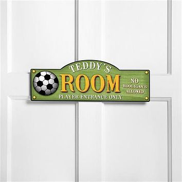 Boys and Girls Sports Room Signs Free Personalization
