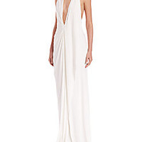 Donna Karan - Jersey Halter Gown - Saks Fifth Avenue Mobile