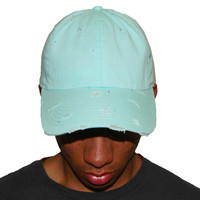 Vintage Culture Aqua Distressed Dad Cap