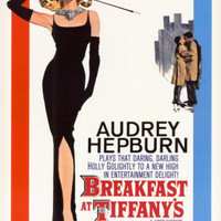 Breakfast At Tiffany's 1961 Movie Poster 24x36 Audrey Hepburn   Free Shipping