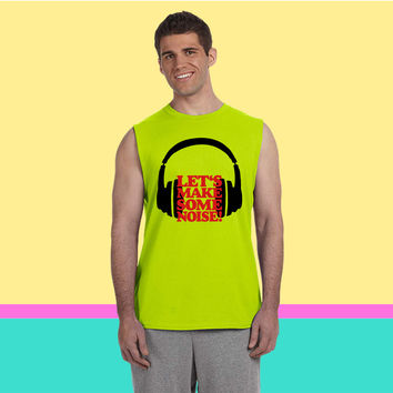 Let's make some noise DJ headphones (black  Sleeveless T-shirt