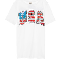 Bling Americana Perfect Crew Tee - PINK - Victoria's Secret