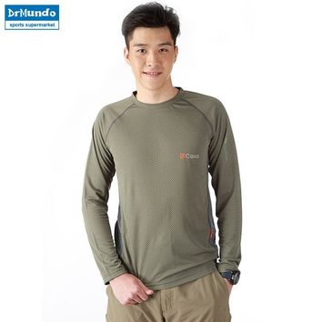 Quick Dry Breathable Anti-Pilling T Shirt 2016 New Outdoor Sport Brand Clothing Male Army Military Running Hiking T-shirt