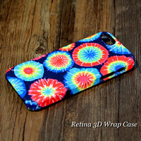 Rainbow Tie Dye 3D-Wrap iPhone 5S Case iPhone 5 Case iPhone 5C Case iPhone 4S Case iPhone 4 Case