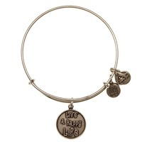 Live a Happy Life Charm Bracelet | Alex and Ani