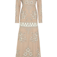 Needle & Thread - Graphic Rose embellished chiffon gown