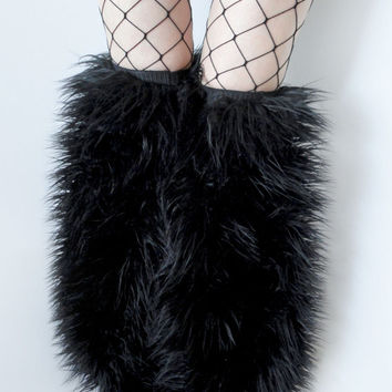 MADE TO ORDER Thigh high fluffies Above the knee gogo boot covers fluffy legwarmers rave anime halloween costume leggings