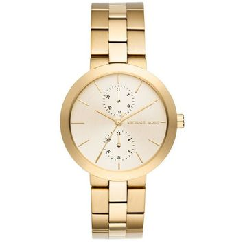 Michael Kors Women's Garner Gold-Tone Stainless Steel Bracelet Watch MK6408