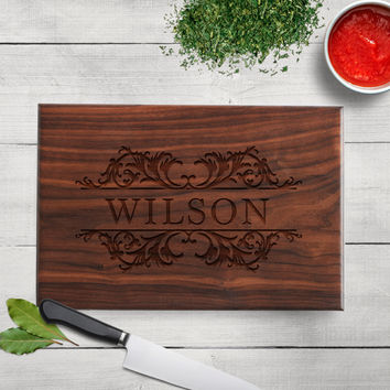 Anniversary Gift - Personalized Cutting Board Walnut or Maple