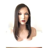 Lori Brunette Human hair lace front wig 12""