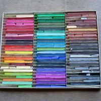 Art Class - Vintage NuPastel Set - Color Sticks - Rainbow - Art Supplies