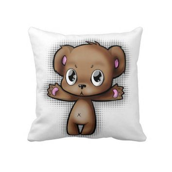 Hug Me Teddy Bear Pillow from Zazzle.com