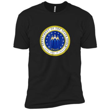 Department of Space Force Funny Political Satire T-Shirt Next Level Premium Short Sleeve Tee