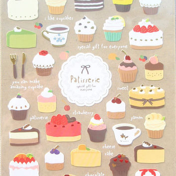 Funny Deco stickers art sticker - Patisserie 1 Sheets SS252