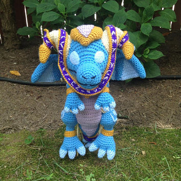 World of Warcraft Inspired: Lil Tarecgosa, Dragon Whelpling Amigurumi (Crochet Plushie/Plush Toy) - MADE TO ORDER