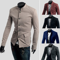 Asian Mens Fashion Tunic Blazer