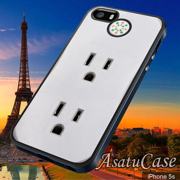 Electric Plug Outlet - Samsung Galaxy S2/S3/S4,iPhone 4/4S,iPhone 5/5S,iPhone 5C,Rubber Case,Cell Phone,Case,Accessories - 231013/CA13