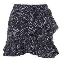 Polka Dot Frill Mini Skirt - Skirts - Clothing