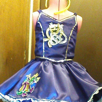 Toddler 4T Mardi Gras Pageant dress