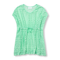 Girls Short Dolman Sleeve Lace Beach Cover-Up | The Children's Place