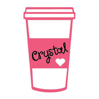 "5"" Coffee Cup Personalized Cute Car Sticker Vinyl Decal"