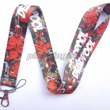 Lot 10Pcs Cartoon Deadpool Mobile Cell Phone Lanyard Neck Straps Party Gifts A06